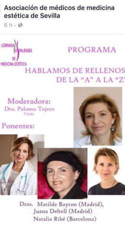Ponentes-expertas-en-rellenos-Dra-Bayton-Jornadas-Hispalenses-Medicina Estetica-Sevilla-2017