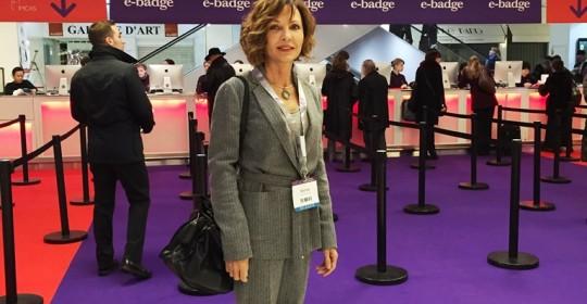 La Dra. Bayton en Imcas 2015, París