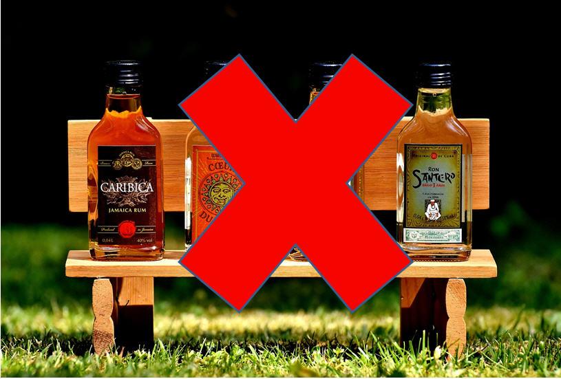 Evitar el alcohol