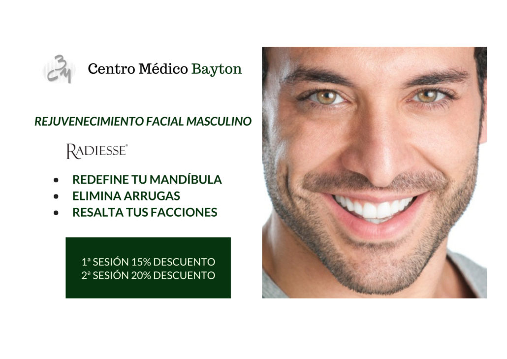 Tratamientos cara masculinos en promocion febrero 2018 clinica Bayton Madrid