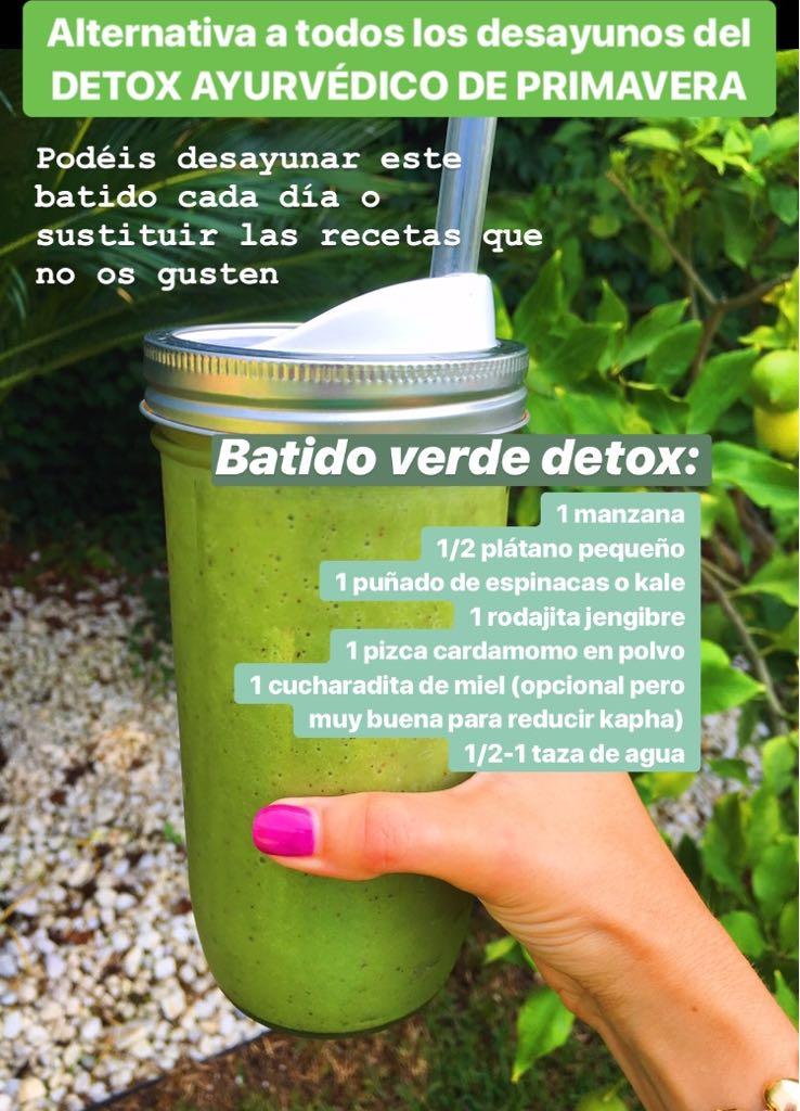Consejos detox alternativa a desayuno - Smoothies