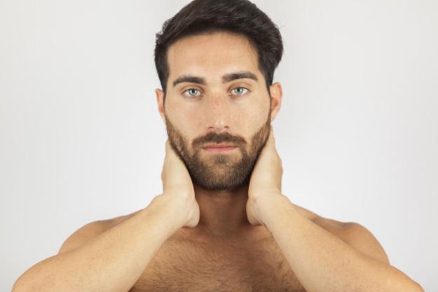 Flacidez en cara hombre
