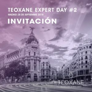 Invitación TEOXANE expert day Madrid 2018